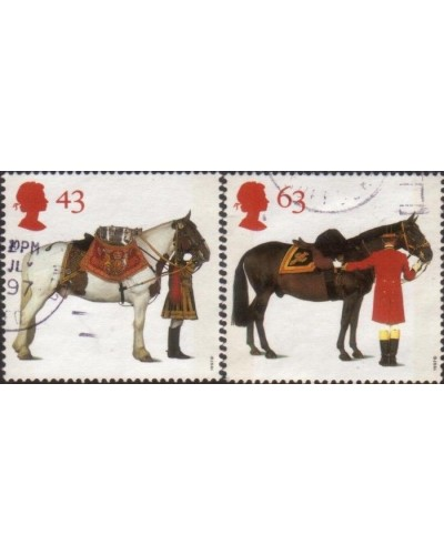 Great Britain 1997 SG1991 All The Queens Horses part set FU