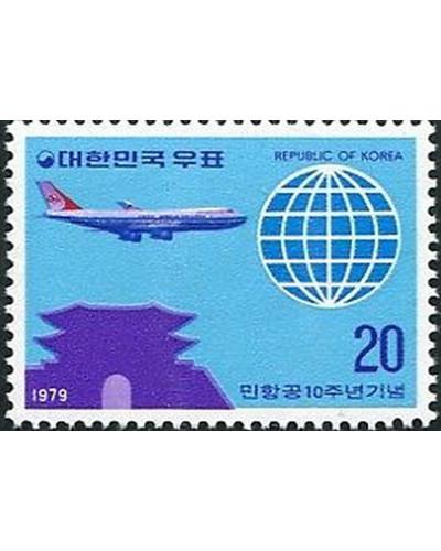 Korea South 1979 SG1396 20w Jetliner and Globe MNH