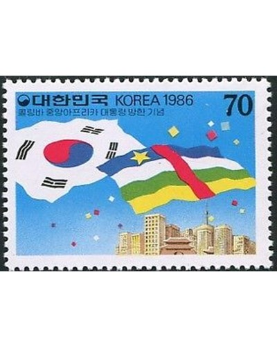 Korea South 1986 SG1726 70w National Flags MNH