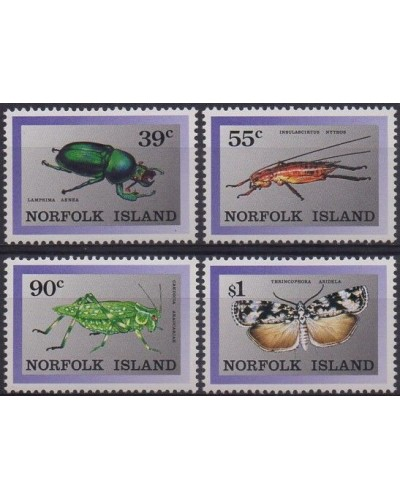Norfolk Island 1989 SG456-459 Endemic Insects set MNH
