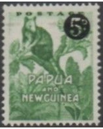 Papua New Guinea 1952 SG25 5d on ½d Tree Kangaroo MLH