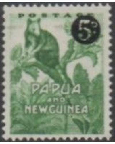 Papua New Guinea 1952 SG25 5d on ½d Tree Kangaroo MLH