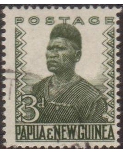 Papua New Guinea 1952 SG5 3d Native policeman FU