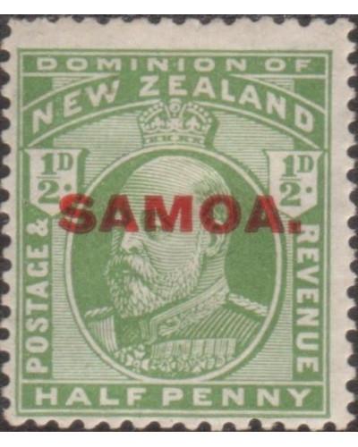 Samoa 1914 SG115 ½d yellow-green KEVII with SAMOA. ovpt MNH