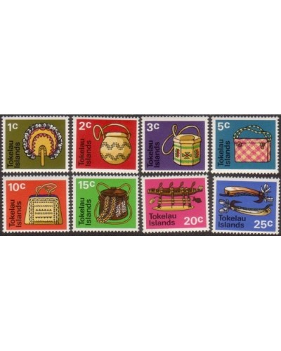 Tokelau 1971 SG25 Handicrafts set (8) MNH