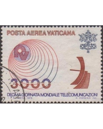 Vatican 1978 SG701 3000 lira Microwave Antenna and Radio FU