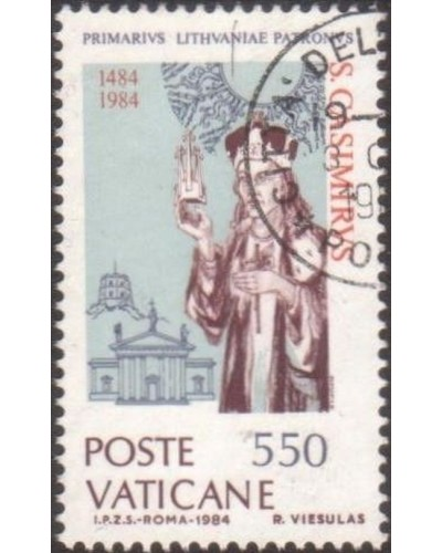 Vatican 1984 SG808 550 lira St Casimir and Vilna Cathedral FU