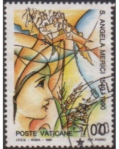 Vatican 1990 SG948 700 lira Vision of Ursulines FU