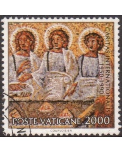 Vatican 1990 SG957 2000 lira Visitors at Abraham's Table FU