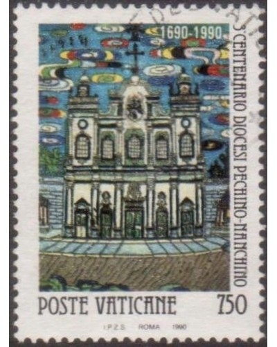 Vatican 1990 SG960 750 lira Church Peking 1650 FU