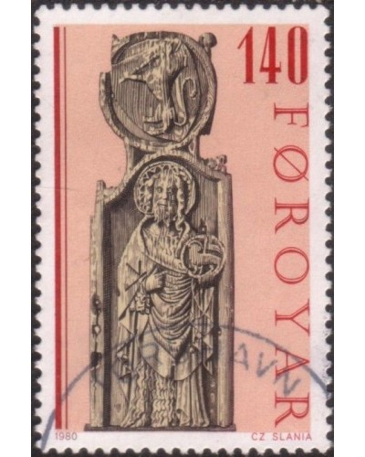 Faroe Islands 1980 SG55 140o Pews of Kirkjubour Church FU