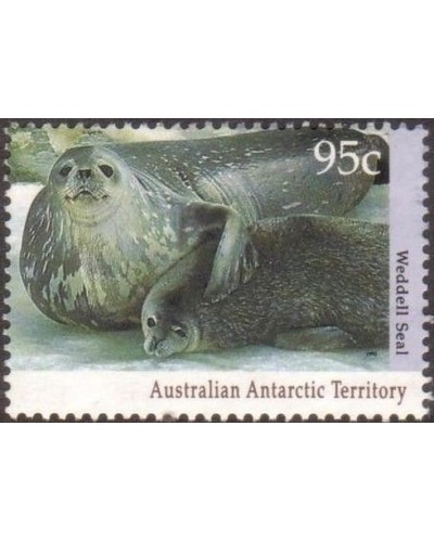 AAT 1992 Sc#L86,SG93 95c Weddell Seal and pup FU