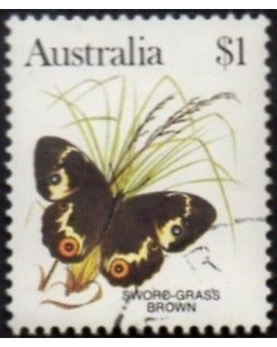 Australia 1983 SG806 $1 Sword-grass brown butterfly FU