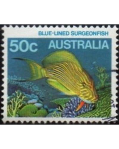 Australia 1984 SG929 50c Blue-lined Surgeonfish FU
