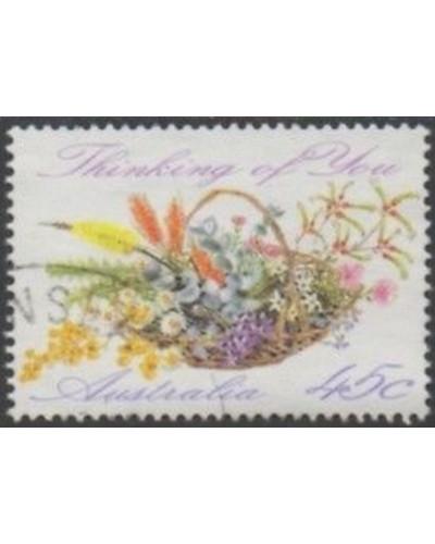 Australia 1992 SG1318 45c Greetings wildflowers FU
