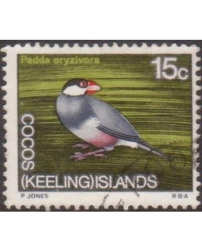 Cocos Islands 1969 SG15 15c Java Sparrow FU