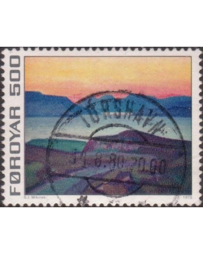 Faroe Islands 1975 SG19 500o Hvitanes and Skalaffjordur FU