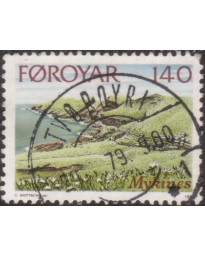 Faroe Islands 1978 SG32 140o Cultivated Fields FU