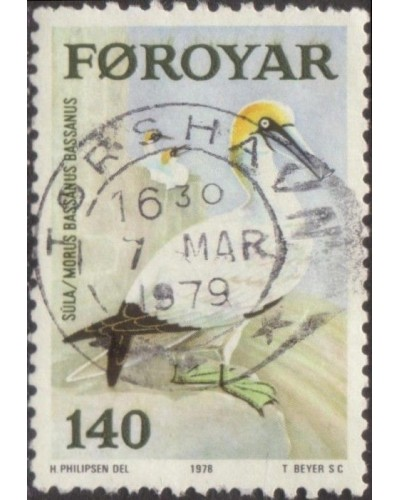 Faroe Islands 1978 SG35 140o Northern Gannet sea bird FU