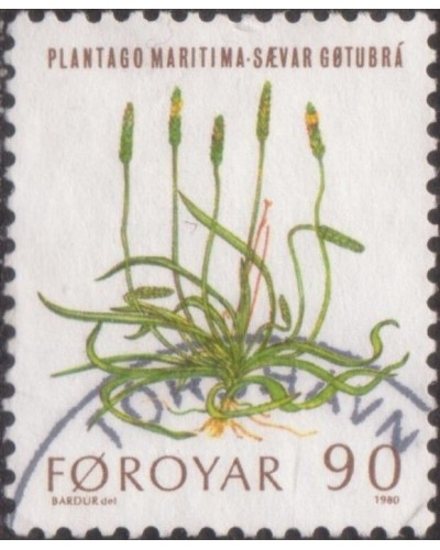 Faroe Islands 1980 SG47 90o Sea Plantain FU