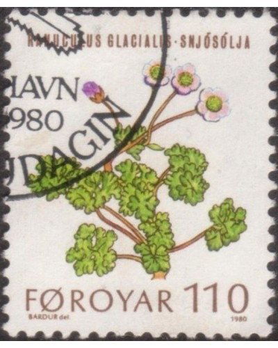 Faroe Islands 1980 SG48 110o Glacier Buttercups FU