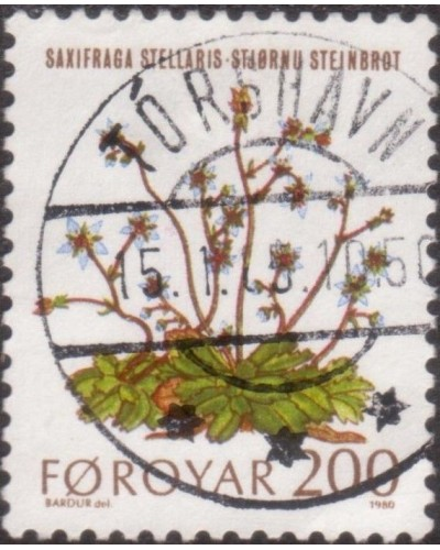 Faroe Islands 1980 SG50 200o Starry Saxifrages FU