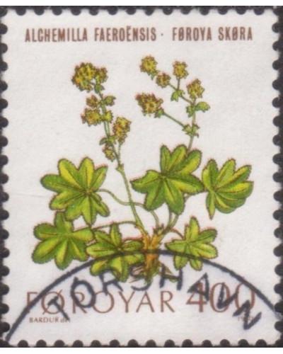 Faroe Islands 1980 SG51 400o Faroese Ladys Mantle flowers FU