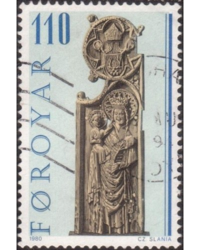 Faroe Islands 1980 SG54 110o Pews of Kirkjubour Church FU