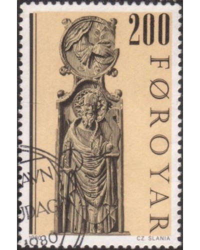 Faroe Islands 1980 SG57 200o Pews of Kirkjubour Church FU