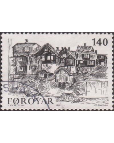 Faroe Islands 1981 SG59 140o Old Torshavn FU