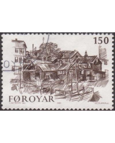Faroe Islands 1981 SG60 150o Old Torshavn FU