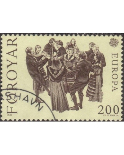 Faroe Islands 1981 SG63 200o Europa Garter Dance FU