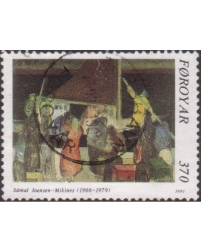 Faroe Islands 1991 SG217 370o The Farewell painting FU