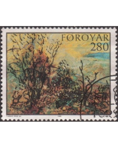Faroe Islands 1985 SG115 280o The Garden Hoyvik painting FU