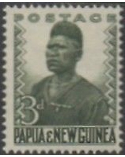 Papua New Guinea 1952 SG5 3d Native policeman MNH