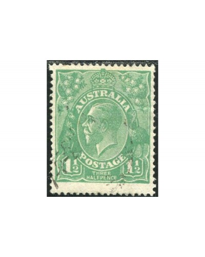 Australia 1923 Sc#25,SG61 KGV 1½d green Single Wmk P14 FU