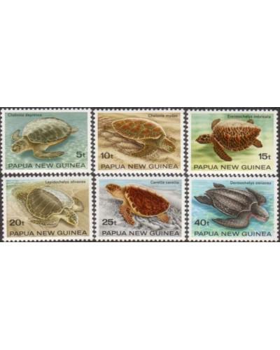 Papua New Guinea 1984 SG472-477 Turtles set MNH