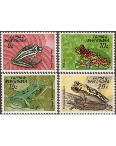 Papua New Guinea 1968 SG129-132 Frogs set MLH
