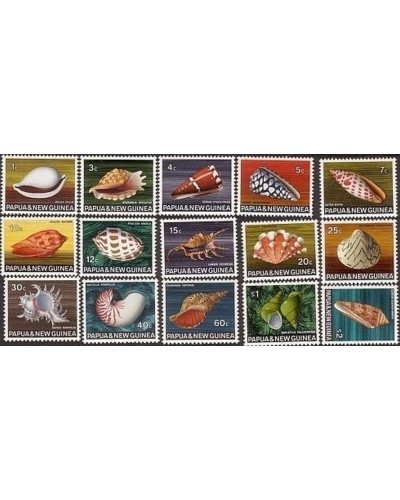 Papua New Guinea 1968 SG137-151 Shell series MNH