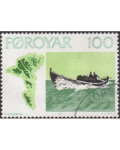 Faroe Islands 1977 SG23 100o Motor Fishing Boat FU