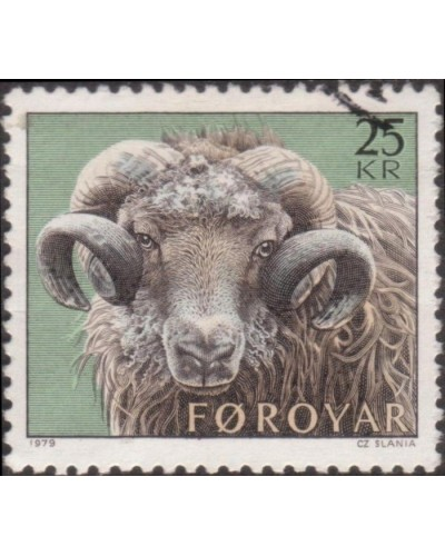 Faroe Islands 1979 SG41 25k Sheep Rearing FU