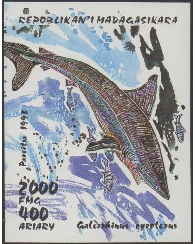 Madagascar 1993 SG1115 Sharks MS IMPERFORATE MNH
