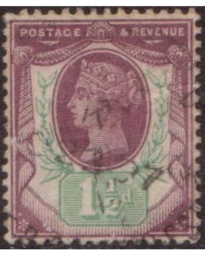 Great Britain 1887 SG198 1½d dull purple and pale green Queen Victoria FU