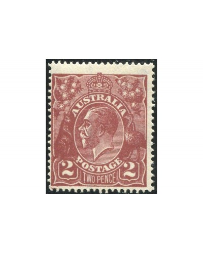 Australia 1924 Sc#29,SG78 KGV 2d red-brown Single Wmk P14 MNH