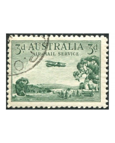 Australia 1929 Sc#C1,SG115b 3d Air Mail Type B full gum CTO