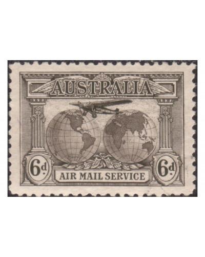 Australia 1931 Sc#C3,SG139 6d Airmail FU