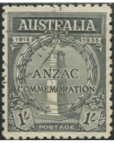 Australia 1934 SG155 1/- black Anzac Commemoration FU