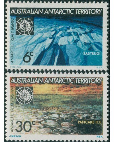 AAT 1971 Sc#L19-L20,SG19-20 Antarctic Treaty set MNH
