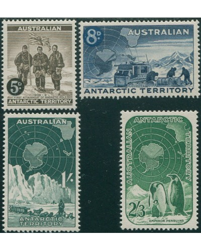 AAT 1959 Sc#L1-L5,SG2-5 Expedition Dog-team Map Penguins set MH