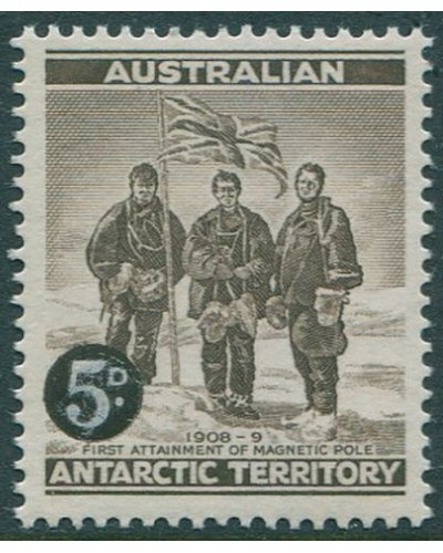 AAT 1959 SG2 5d on 4d Shackleton MNH